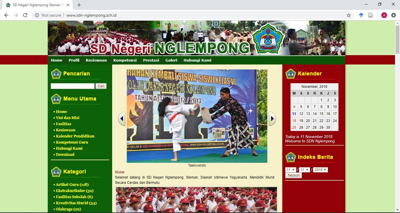 Website SD Negeri Nglempong Sleman