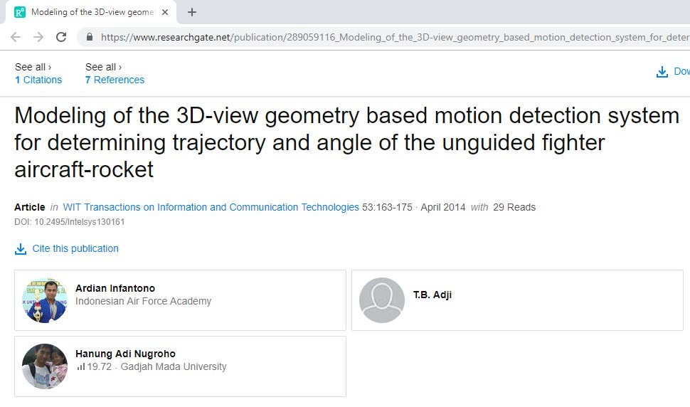 Modeling of the 3D-view geometry based motion detection system for determining trajectory and angle